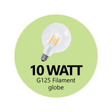 Premium 10 Watt G125 LED Filament (Opal)
