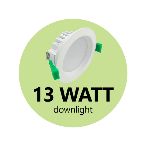13 Watt Switchable Down Light - LED Downlights