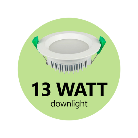 13 Watt Down Light - DIMMABLE - LED Downlights