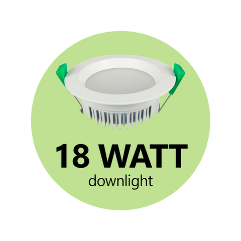 18 Watt Down Light - DIMMABLE - Wholesale LED Lighting Australia