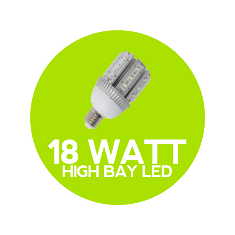 18 Watt LED High Bay Globe - High Bays LED Lights