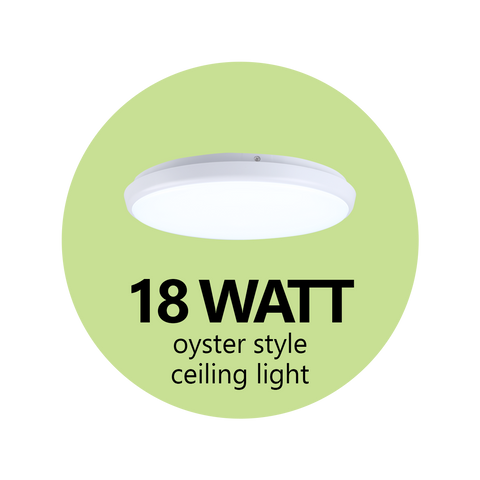 18 Watt Oyster-Style Ceiling Light - LED Spotlights Australia