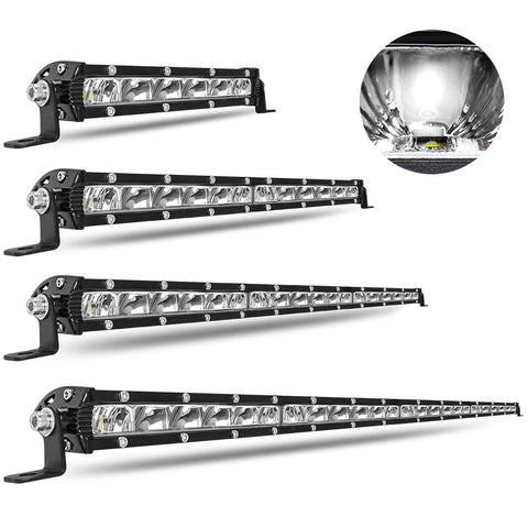 LED LIGHT BAR - 7D Reflector - 8, 14, 20 & 26 Inch