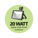 Apple-Style Flood Light Black