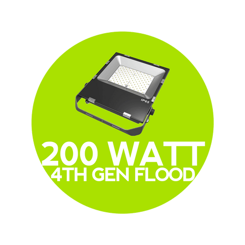 200 Watt 4th Gen LED Flood Light - Outdoor Flood Lights