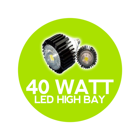 40 Watt LED High Bay Globe