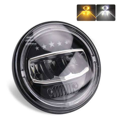 Angel Eye LED Head Light - 7 Inch