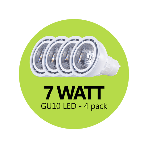 Premium 7 Watt GU10 LED - 4 Pack