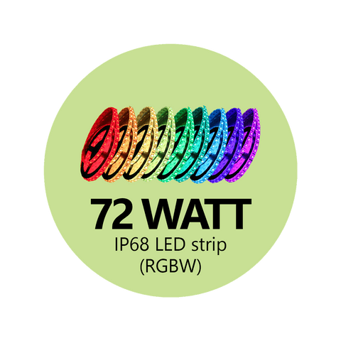 72 Watt RGBW LED Light Strip - 300 LEDs