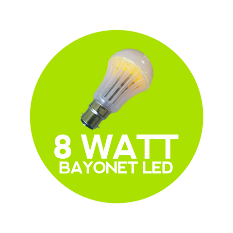 8 Watt Bayonet LED Warm White