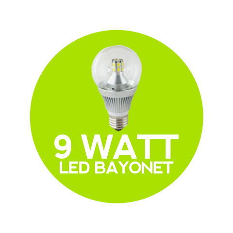 9 Watt LED Bayonet