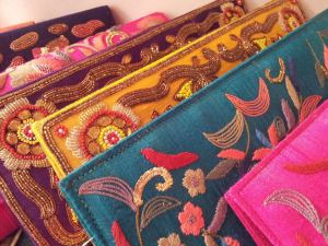 Clutches with embroidery at Tarusa