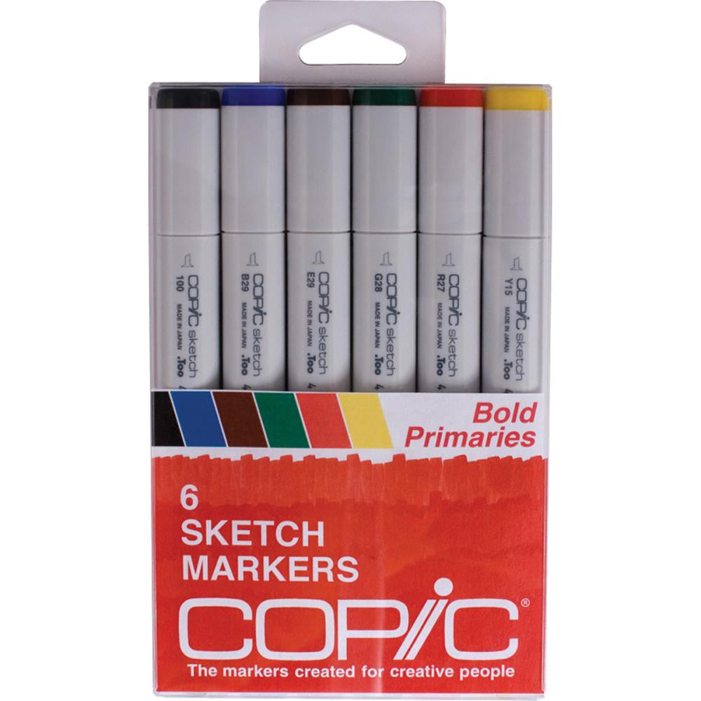 Copic Sketch Markers - Bold Primaries 6 pack