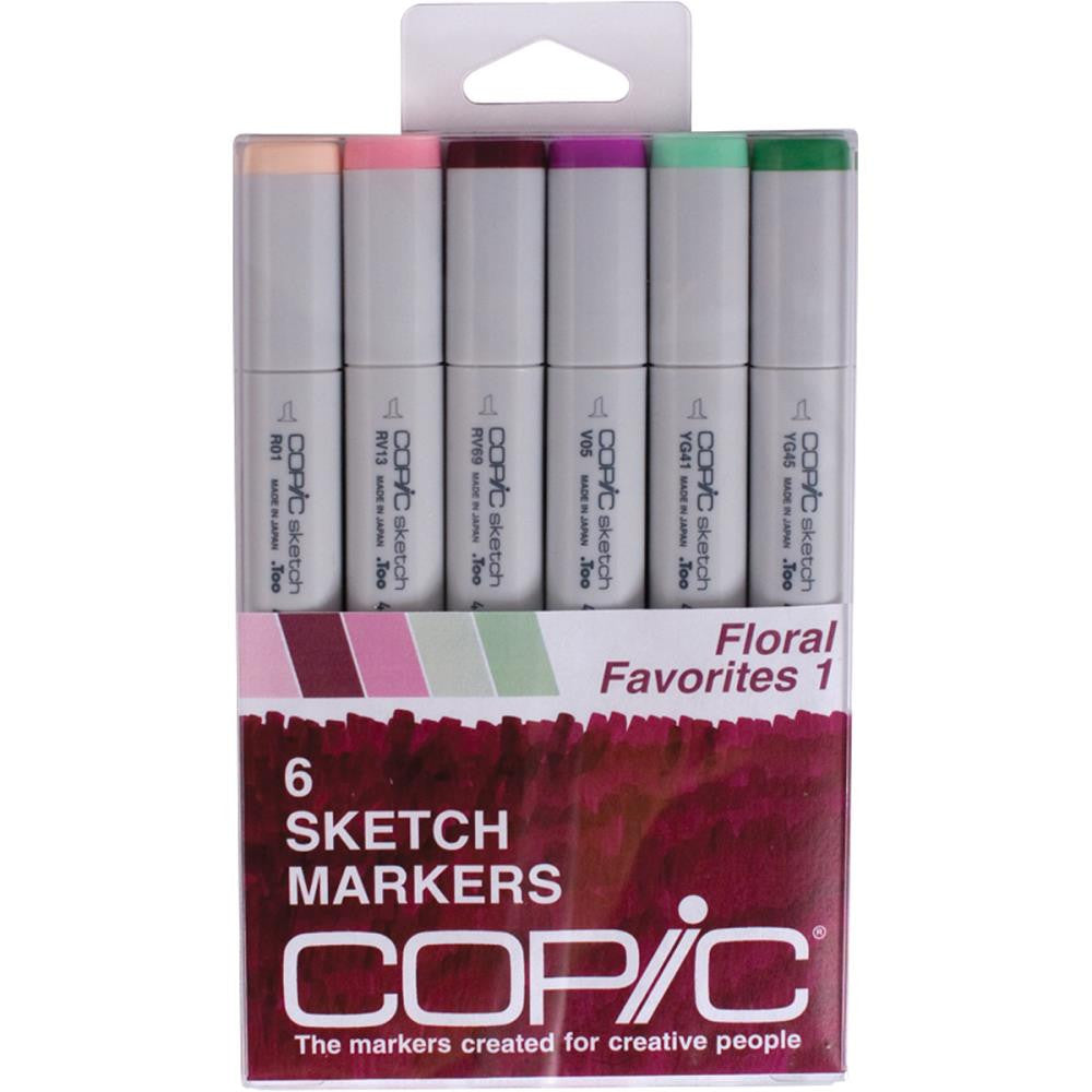 Copic Sketch Markers - Floral Favorites 1 - 6/pack