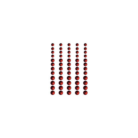 ***New Item*** Queen & Co, Rhinestones, Self-Adhesive, 60/Pkg - Classy Red