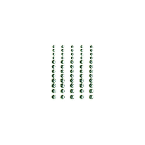 Queen & Co, Rhinestones, Self-Adhesive, 60/Pkg - Grass Green