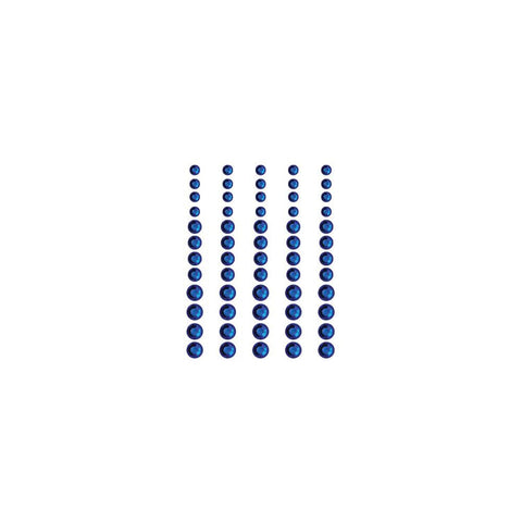 Queen & Co, Rhinestones, Self-Adhesive, 60/Pkg - Brilliant Blue