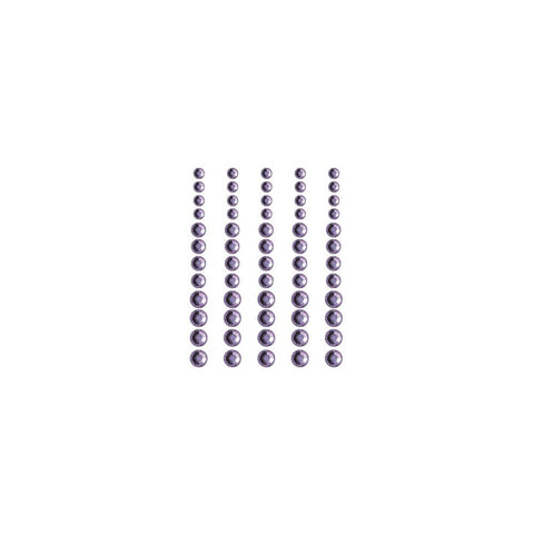 ***New Item*** Queen & Co, Rhinestones, Self-Adhesive, 60/Pkg - Indigo