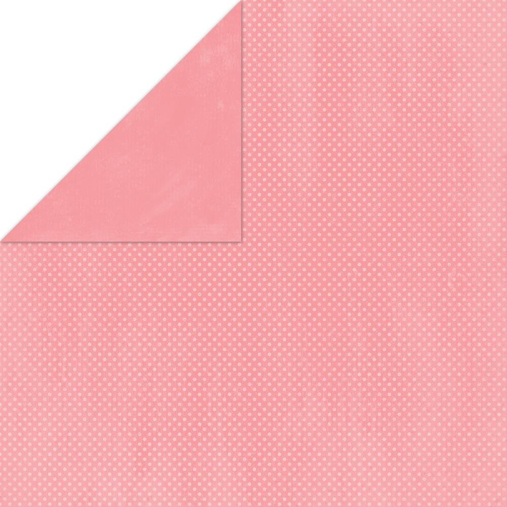 "BoBunny Double Dot Double-Sided Textured Cardstock 12""X12"" Flamingo"