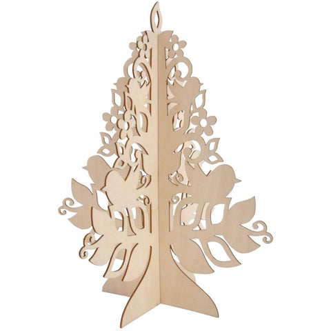 July4Special Kaisercraft Wood Flourishes - Medium Stand-Up Tree 11""