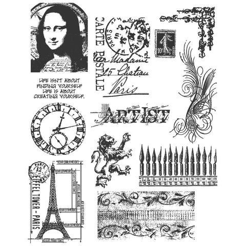 Stampers Anonymous - Tim Holtz Cling Stamps - Mini Classics