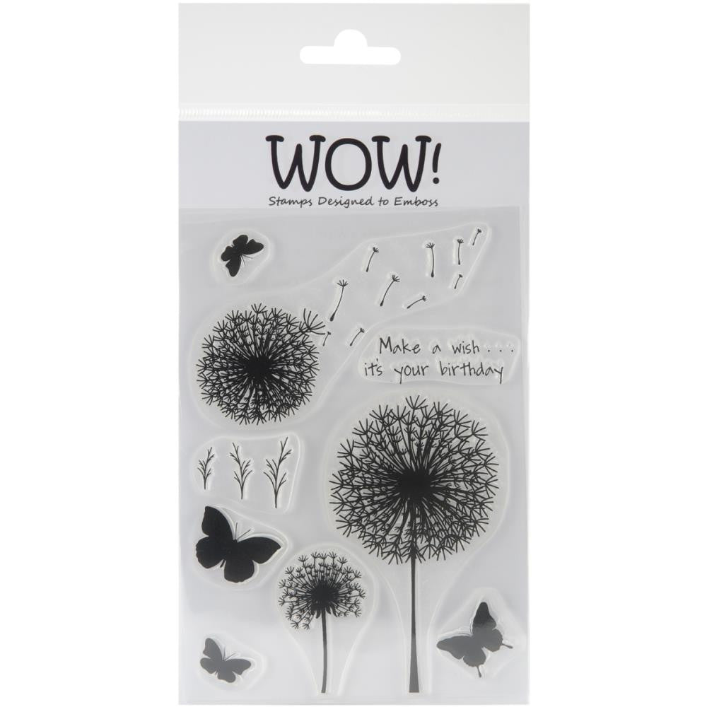 "WOW! Clear Stamp Set 4""X5.75"" - Make A Wish"