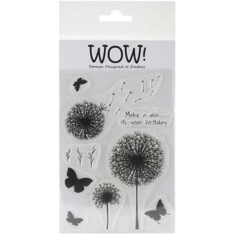 "***New Item*** WOW! Clear Stamp Set 4""X5.75"" - Make A Wish"