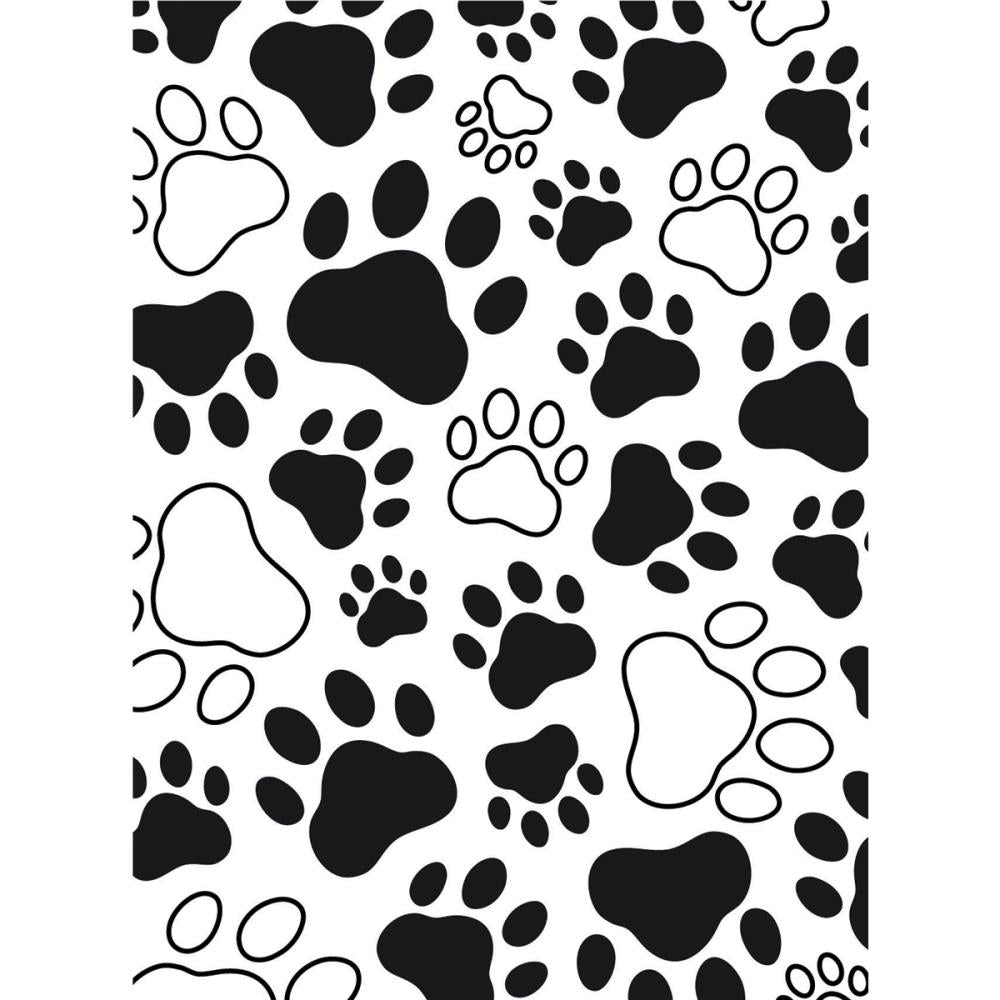 Embossing Folder - Paw Print Background Darice