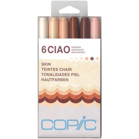 Copic - Ciao Markers 6/Pkg - Skin