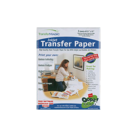"Transfer Magic - Ink Jet Transfer Paper 8.5""  x 11"" 3/pkg"