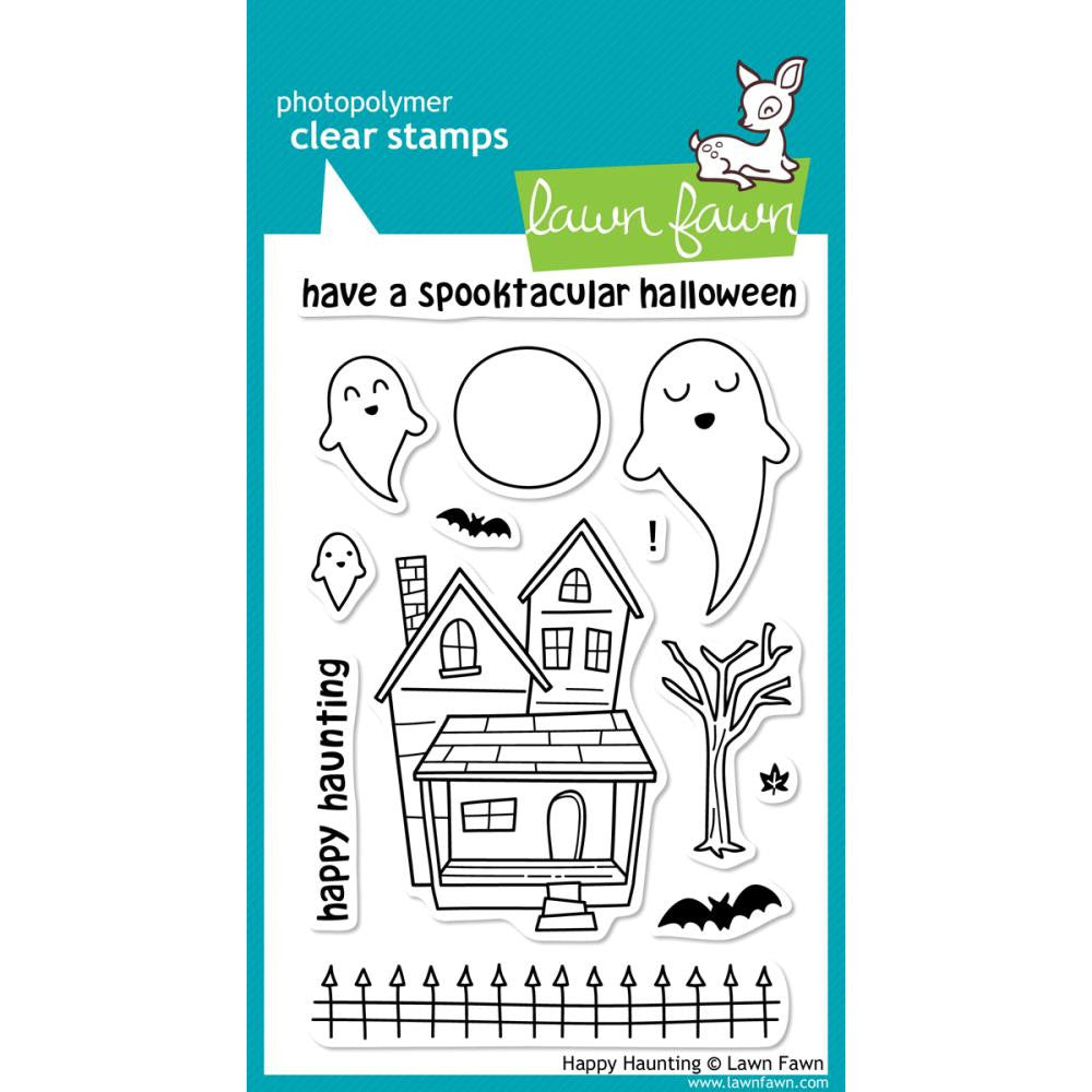 "Lawn Fawn Clear Stamps - Happy Haunting (Coordinates with Lawn Cuts ""Happy Haunting"" Die Set)"