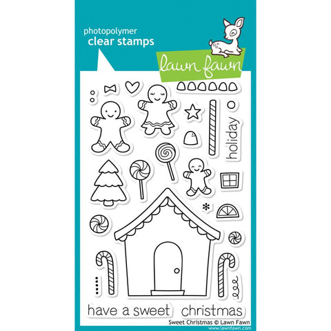 "Lawn Fawn - 4"" x 6"" Clear Stamp Set - Sweet Christmas"