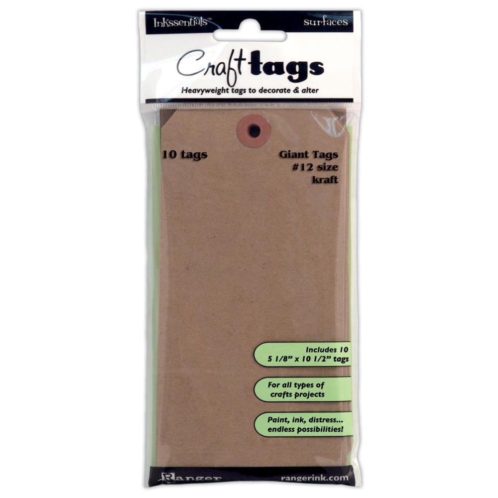 Ranger - Craft Tags - #12 Giant - Kraft