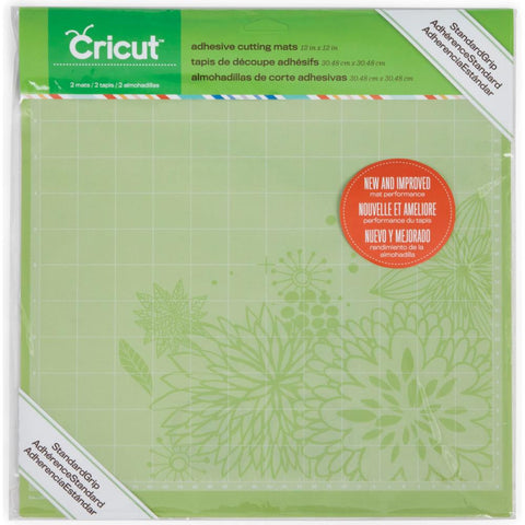 (Top 100) Provo Craft Cricut Cutting Mats, Standard Grip, 12x12-Inch, 2-Pack
