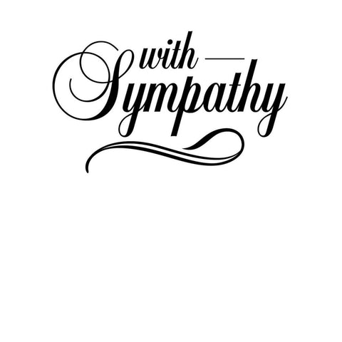 Embossing Folder - With Sympathy Darice