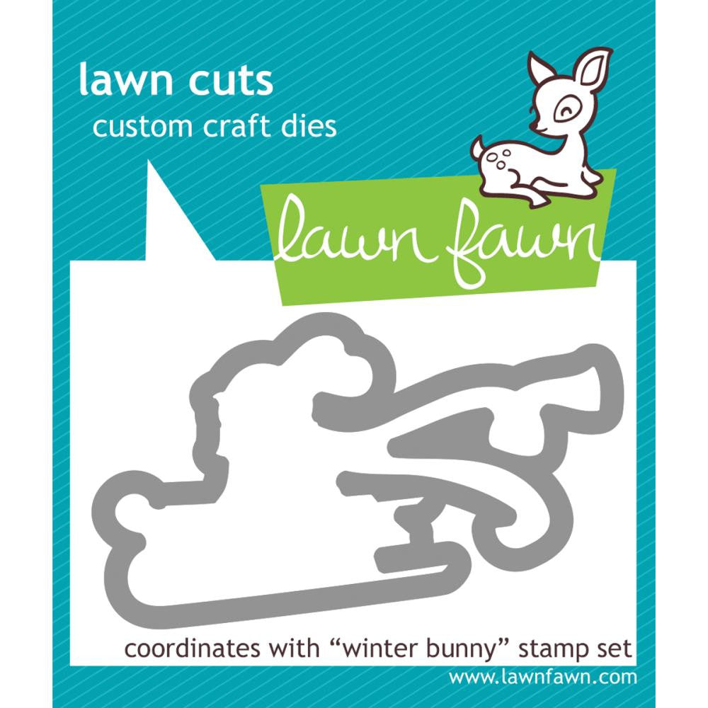 Lawn Cuts Custom Craft Die - Winter Bunny (Coordinates with Winter Bunny stamp set)