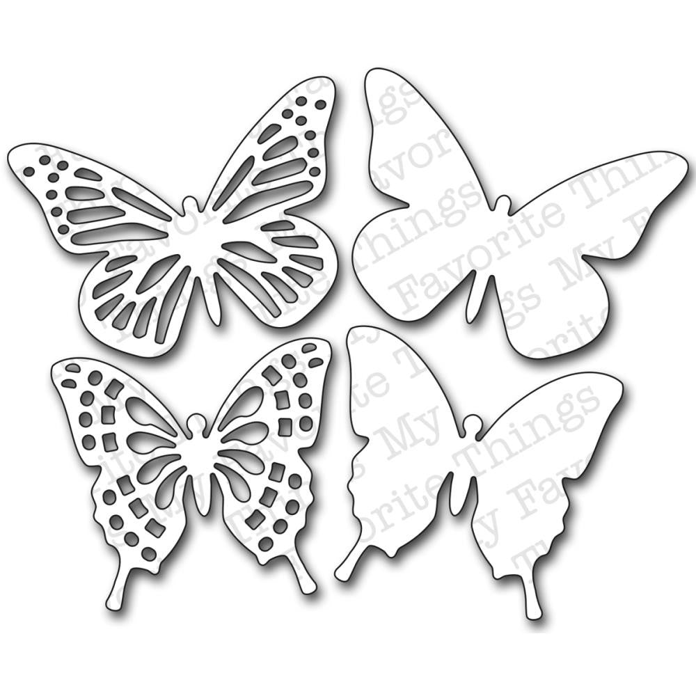 "Die-Namics - Fancy Butterflies, 3.6"" - 3"""