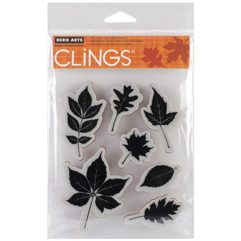 "***New Item*** Hero Arts, Cling Stamps, 4.25""X 5.75"" - Scattered Leaves"