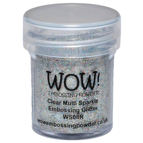 WOW Embossing Glitter 15ml - Clear Multi Sparkle