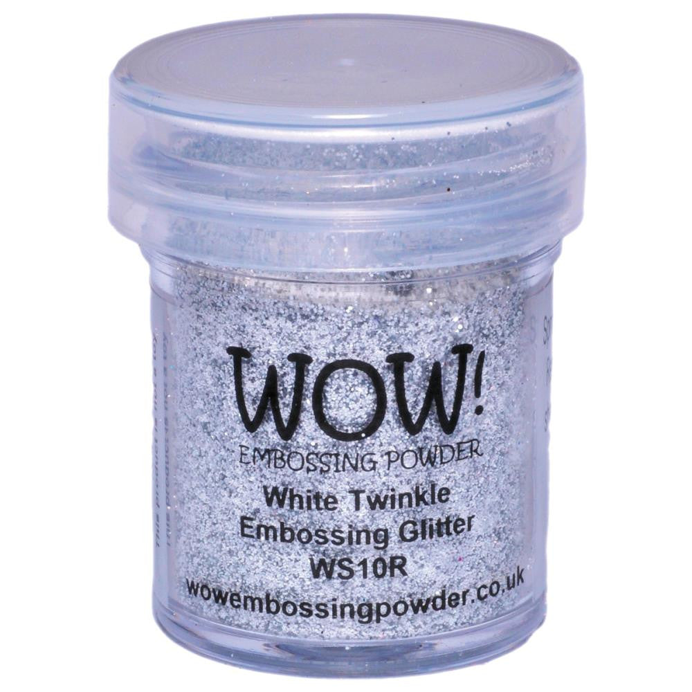 ***New Item*** WOW Embossing Powder Regular 15ml - White Twinkle