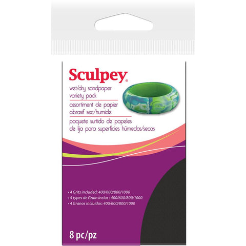 ***New Item*** Sculpey Wet/Dry Sandpaper Variety Pack 8/Pkg