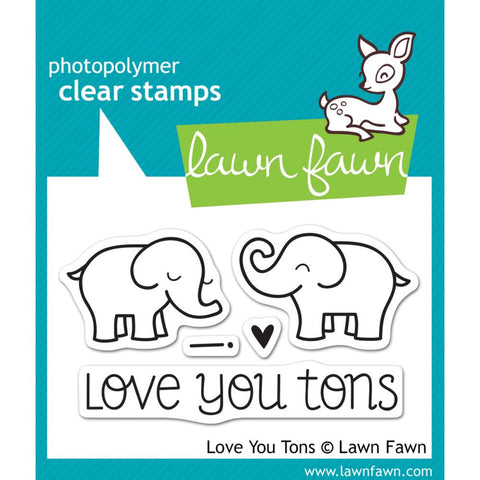 "(Pre Order) Lawn Fawn Clear Stamps - Love you Tons  3"" x 2"" (Coordinates with ""Love you Tons"" Lawn Cuts Dies)"