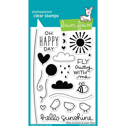 "Lawn Fawn Clear Stamps - Hello Sunshine 4"" x 6"" (Coordinates With ""Hello Sunshine"" Lawn Cuts)"