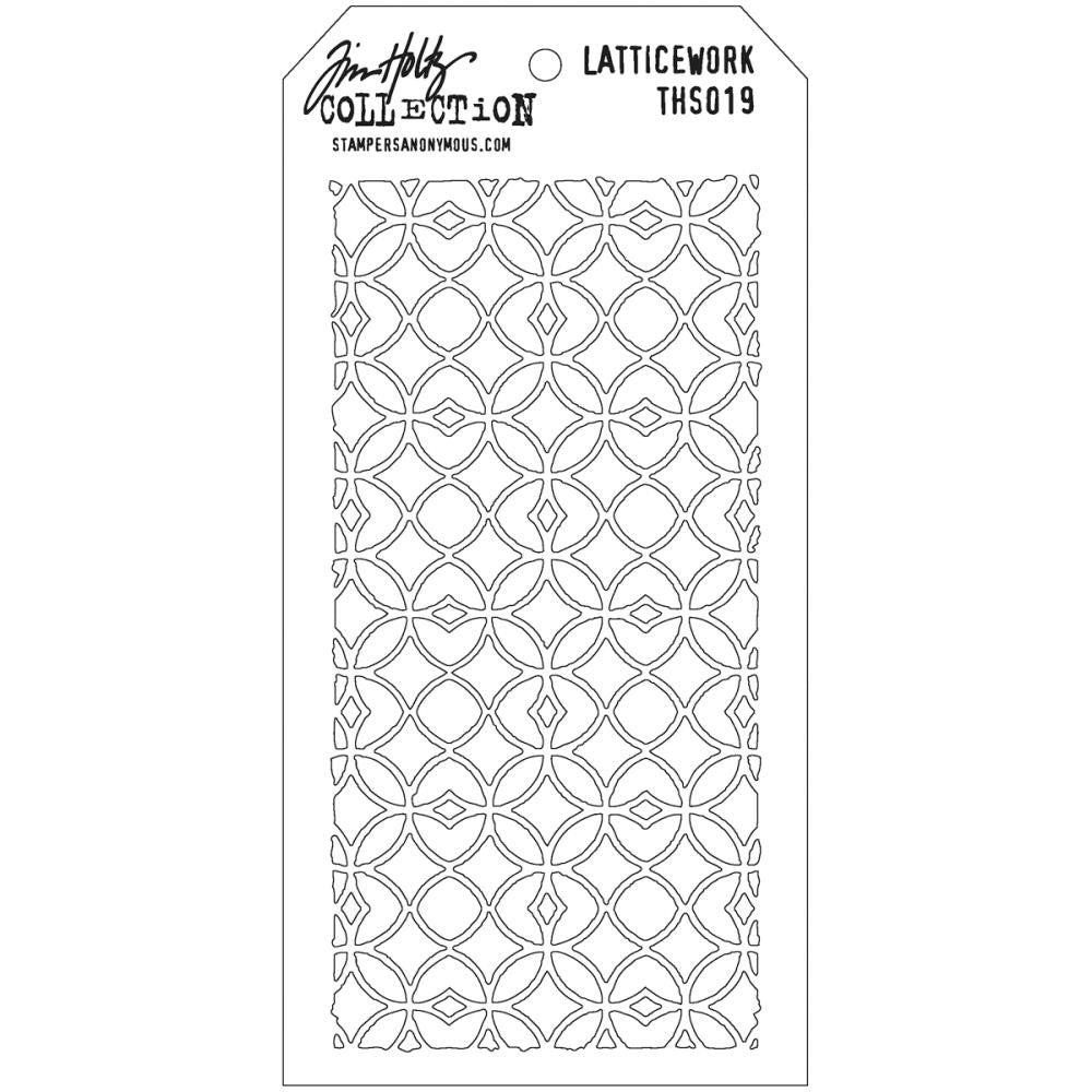 Stampers Anonymous - Tim Holtz - Layering Stencil -  Latticework