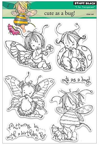 Penny Black Clear Stamp Sheet - Cute As A Bug!