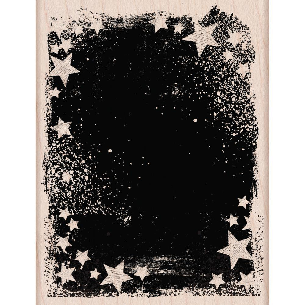 "Hero Arts, Mounted Rubber Stamp, 4.25""X3.25"" - Star Galaxy"