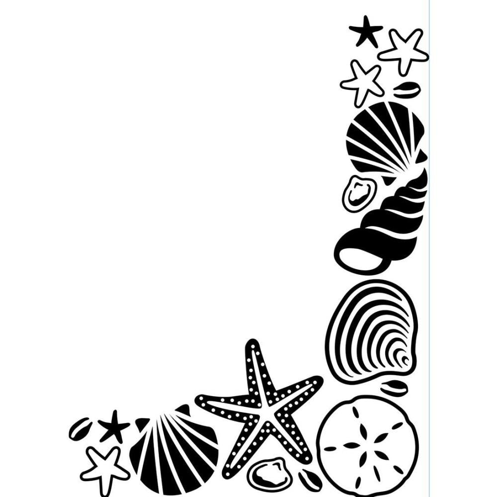 Embossing Folder - Shell Corner Darice