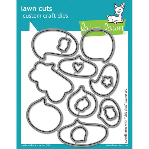 "Lawn Cuts Custom Craft Die - Chit Chat (Coordinates With ""Chit Chat"" Stamp Set)"