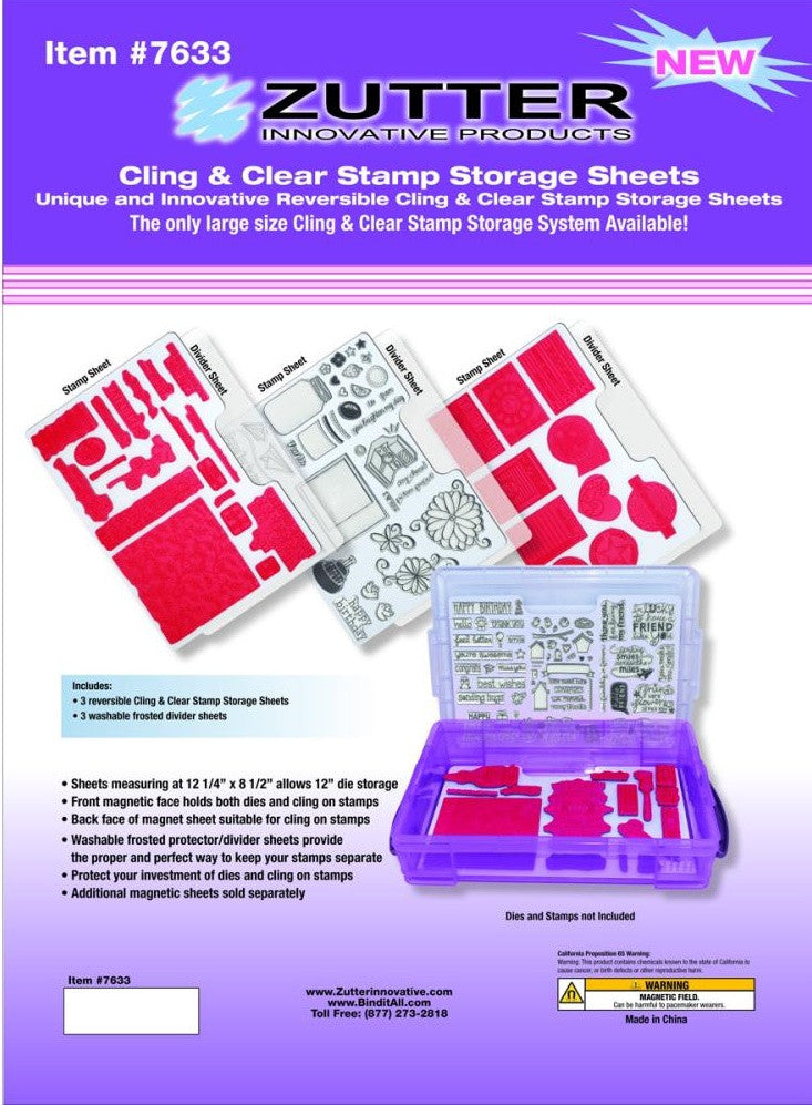 "Zutter - Cling & Clear Stamp Storage System Refills - 12.25"" x 8.5"""