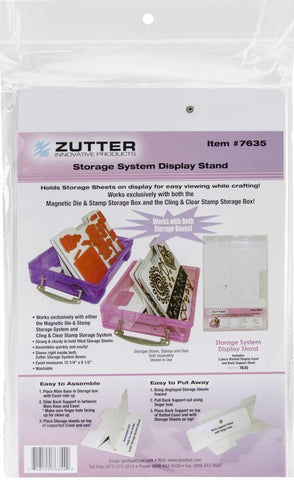 Zutter - Easel for Magnetic and Stamp Storage Systems
